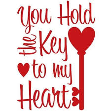 Shop You Hold The Key To My Heart Wall Decal Quote Words Lettering Decor Sticker Wall Vinyl Overstock 17765407
