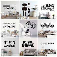 Best Price 33bba Create Gamer Wall Sticker Vinyl Mural Wallpaper For Kids Boys Room Decoration Decals Ps4 Gaming Poster Decor Door Stickers Cicig Co