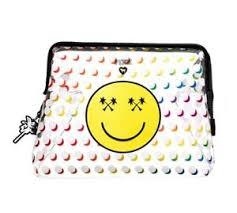 secret pink emoji xl makeup travel bag
