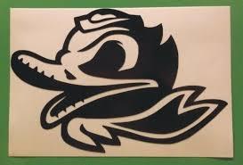 Oregon Ducks Combat Duck Decal Car Window Sticker Vinyl 6 X4 Reflective Black For Sale Online
