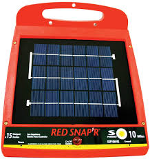 Amazon Com Red Snap R Esp10m Rs 10 Mile Solar Low Impedance Fence Charger Agricultural Fences Garden Outdoor