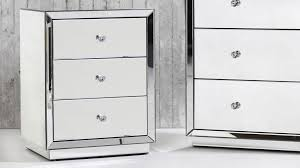 alison mirrored bedside table