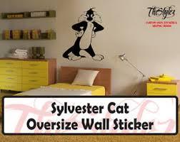 Looney Tunes Sylvester Cat Custom Vinyl Sticker Ebay