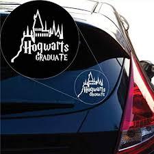 Amazon Com Yoonek Graphics Hogwarts Graduate Harry Potter Decal Sticker For Car Window Laptop And More 1004 6 X 6 4 White Automotive
