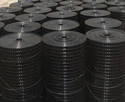 Black Welded Wire Mesh Rolls Supply