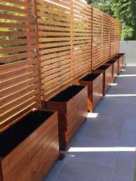 Timber Privacy Divider Screen Trellis With Horizontal Slats Privacy Fence Designs Backyard Privacy Backyard