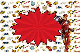 Iron Man Invitaciones Para Imprimir Gratis Oh My Fiesta Friki