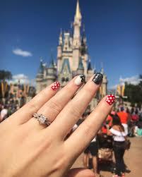 Disney Engagement Magic Kingdom Mickey Mouse Nails Mickey Ears Gel ...