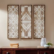 Home Essence Mandal Printed Wood Wall Decor Set Of 3 Walmart Com Walmart Com