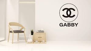 Amazon Com Custom Name Fashion Design Logo Wall Decal For Home Living Room Or Bedroom Decoration Wide 20 X25 Height Home Kitchen