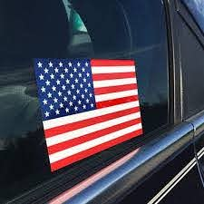 American Flag Sticker 2 5 X 4 5 Inches Thin Blue Line Usa