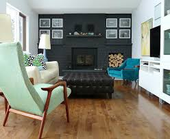 a bold black fireplace makeover