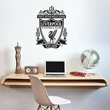 Amazon Com Official Liverpool Football Club One Colour Crest Wall Decal Lfc Wall Sticker Set Print Mural Vinyl Black 60cm Height Baby