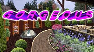 Gorgeous Landscaping Along A Fence Bobby K Designs Youtube