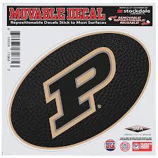 Purdue Boilermakers 6 X 6 Team Ball Die Cut Repositionable Vinyl Decal