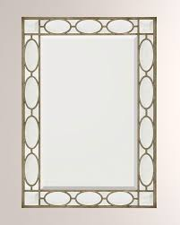 silver wood frame with clear beveled mirror