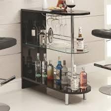bar table with glass shelf