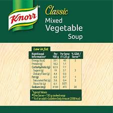 knorr clic mixed vegetable soup