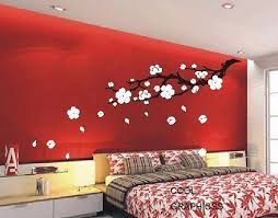 Plum Blossom Branch 63 Inches Vinyl Wall Decal Sticker Art Etsy Red Walls Asian Home Decor Home Decor