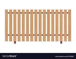 Wooden Fence On White Background Royalty Free Vector Image