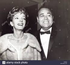 JONATHAN WINTERS with his wife Eileen Ann Schauder at the premiere ...