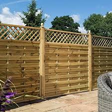 Rowlinson 3ft X 6ft Halkin Garden Screen Fence Panel Gate Self Assembly Amazon Co Uk Garden Outdoors