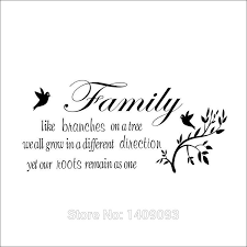 family wall quotes family tree branch birds creative vinyl cm