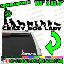 Cats Crazy Cat Lady Left Facing Cute Car Window Decal Bumper Sticker Woman Jdm