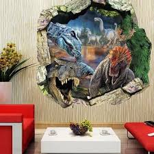 Jurassic Park Dinosaur 3d View Wall Sticker Pvc Decal Kids Mural Home Art Decor Buy At A Low Prices On Joom E Commerce Platform