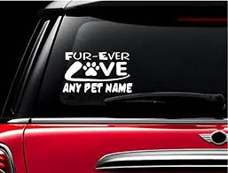 Amazon Com Stickerloaf Brand Custom Fur Ever Love Paw Pet Memorial Decal Car Truck Auto Window Sticker Bumper Decal Any Color Pet Dog Cat Animal Rescue In Memory Of Pets Furever Forever Heart Handmade