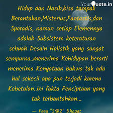 hidup dan nasib bisa tamp quotes writings by taufik hidayat