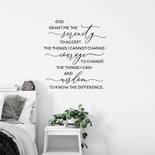 Serenity Prayer Wall Decal God Grant Me The Serenity Quote Etsy In 2020 Serenity Prayer Wall Decal Prayer Wall Sobriety Quotes