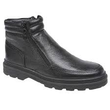 twin zip thermal lined leather boots