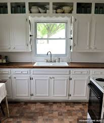 painting kitchen cabinets before after
