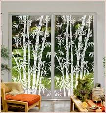 big bamboo etched glass window see