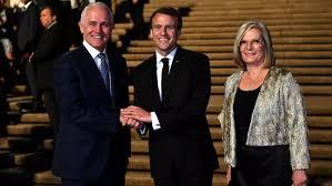Macron thanks Australian PM Turnbull ...