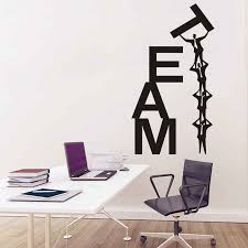 Inspired Wall Sticker Team Work Word Office Classroom Room Wall Decor Decals Motivation Quotes Vinyl Decal Easy Removable D438 Wall Stickers Aliexpress