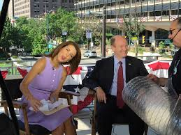 File:Stephanie Ruhle sticks out tongue while interviewing Chris Coons.jpg -  Wikimedia Commons