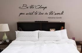 Be The Change You Wish To See In The World Gandhi Inspirational Wall Art Decal Sticker Ozdeco T S Polonaiz