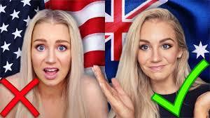 doing makeup in america vs australia