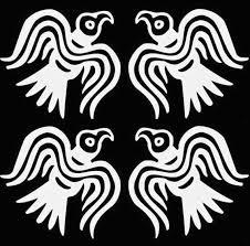 Viking Raven Set Of 4 White Vinyl Decal Etsy