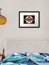 Black And Orange Sf Giants Framed Art Print By Indieteesnow Redbubble