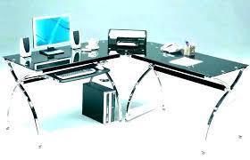 computer desks glass desk glass