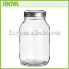 eco 32 oz square round glass mason jar