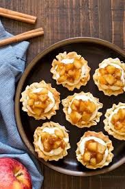 apple pie cheesecake phyllo cups