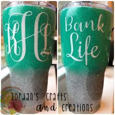 Personalized Monogrammed Tumbler With Decal Banklife Monograms Tumblers Diy Crafty Cricut Monogram Tumbler Tumbler Personalised
