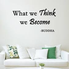 Vwaq What We Think We Become Buddha Quote Wall Decal Reviews Wayfair