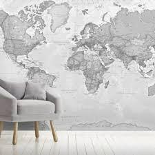 World Map Wallpaper Wall Murals Wallsauce Us
