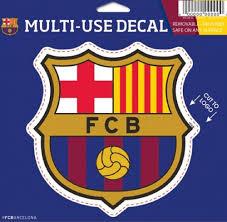 Amazon Com 2 X Fc Barcelona Wall Sticker Logo 5 X5 Sports Outdoors