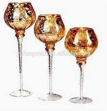 tall gold mercury goblet candlestick
